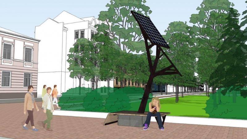 Використовувати ґаджети в Тернополі стане ще зручніше - в місті встановлять перше в Україні Сонячне дерево із зарядними пристроями