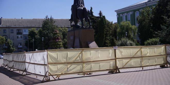У Тернополі завершується реконструкція постаменту пам'ятника Данилу Галицькому