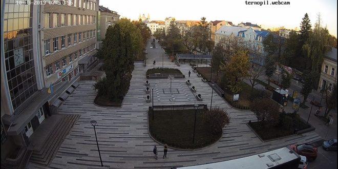 У Тернополі відкрили оновлену ділянку скверу на вулиці Чорновола