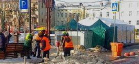 Комунальні служби продовжують здійснювати прибирання вулиць міста від снігу та посипання протиожеледною сумішшю