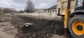 Триває будівництво дощового колектора на вулиці Галицькій